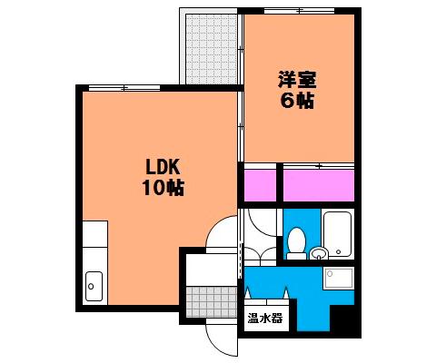 岡山県岡山市北区中山下の賃貸物件 間取り図