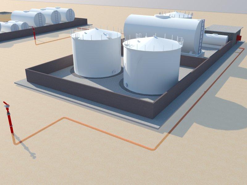 Red contra incendios para tanques de combustible