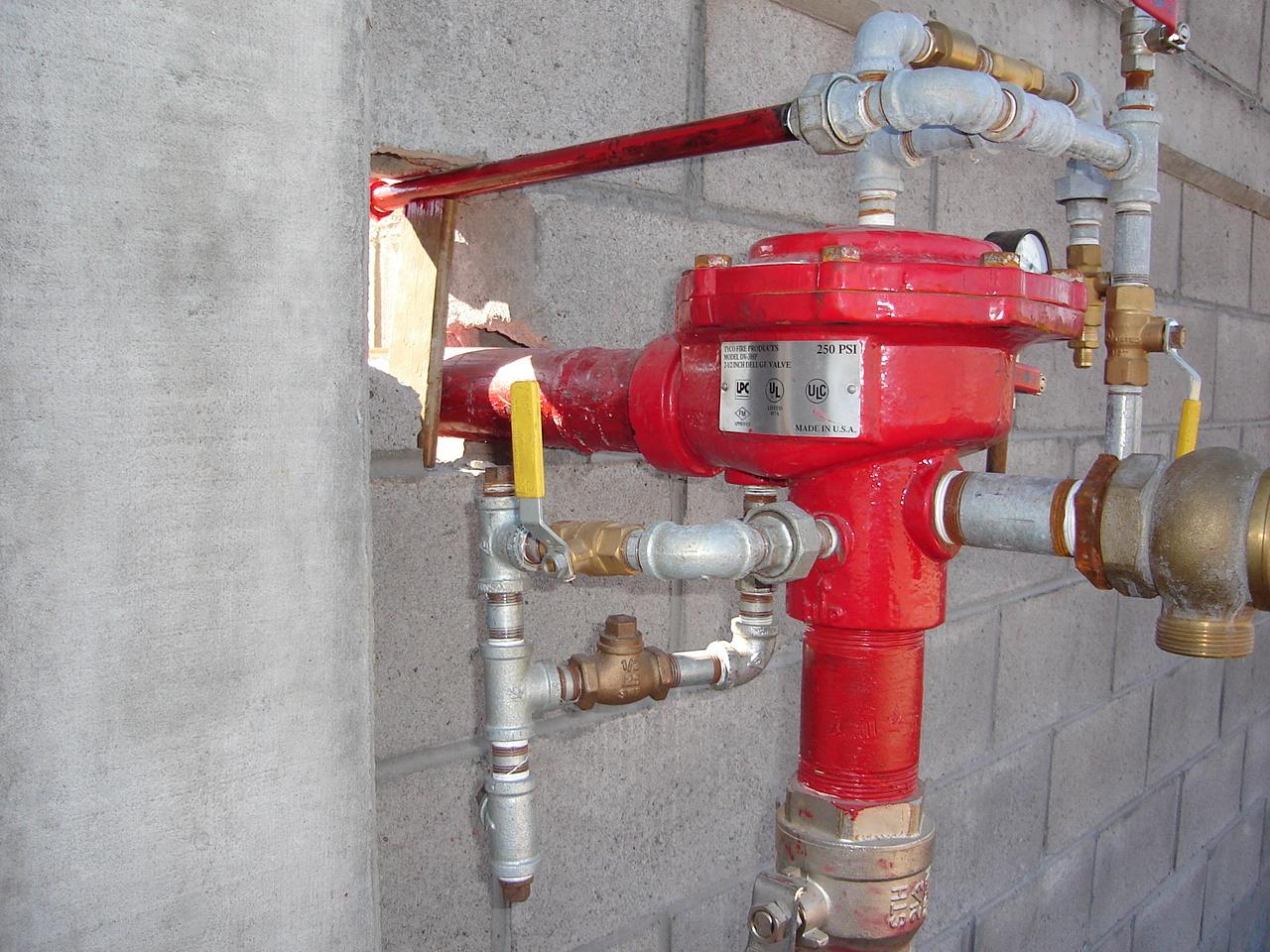 Valvula de diluvio para sistema contra incendios