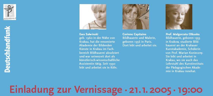 Künstler der Austellung- Begegnung dreimal KörperGestalten 2005