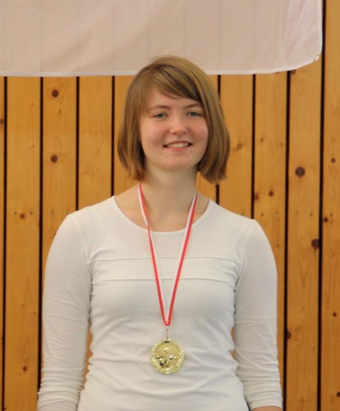 Einzelstarterin mit Landes-Rekord: Lydia Laarz