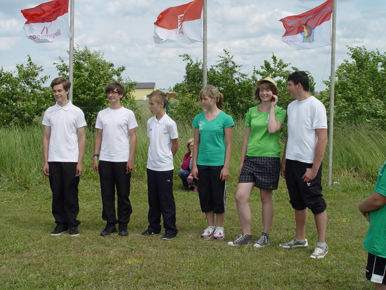 Einige der Kaderschützen die das Turnier als Training wahrnahmen