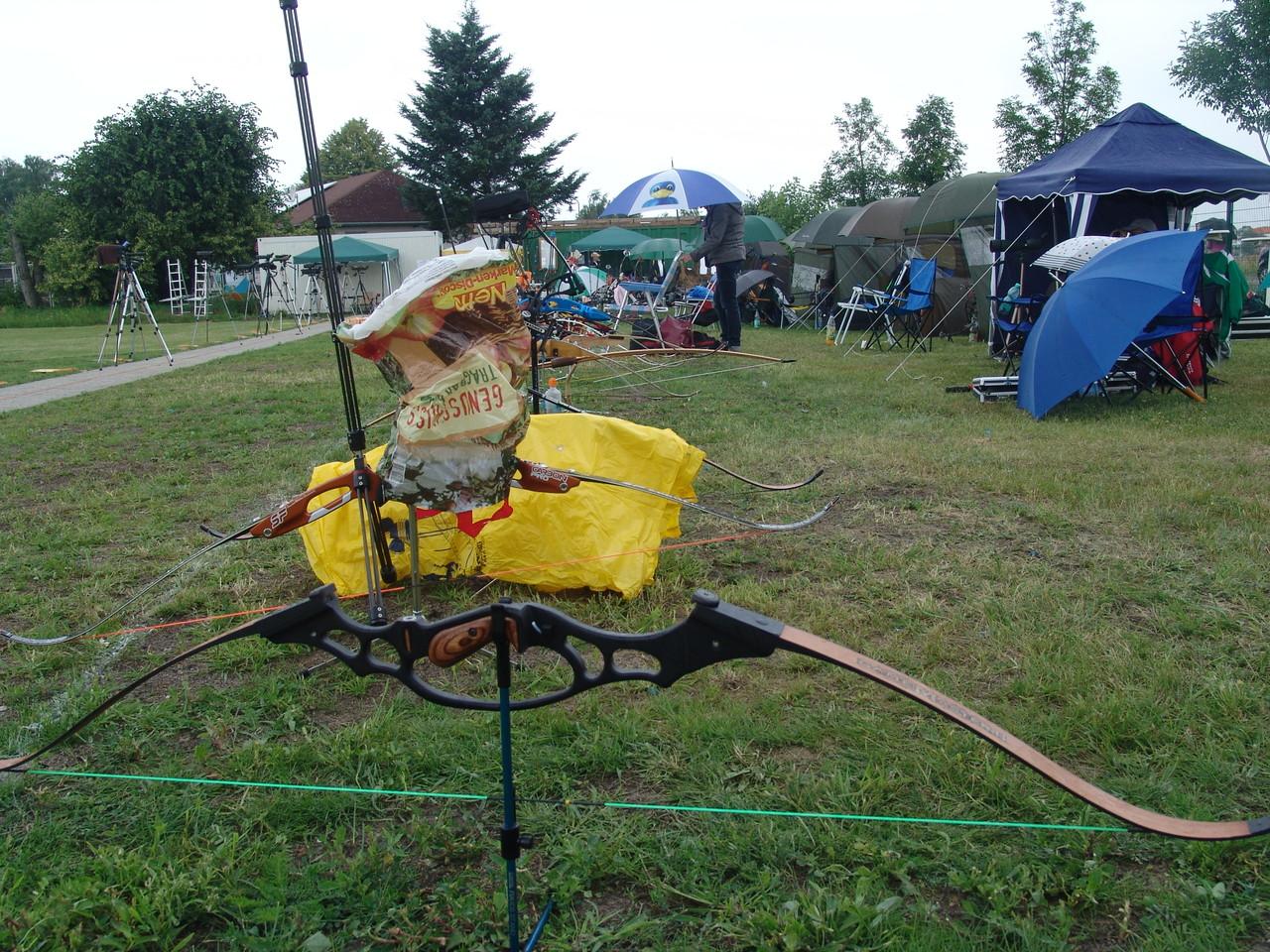 Die Bögen geschützt vor dem Regen