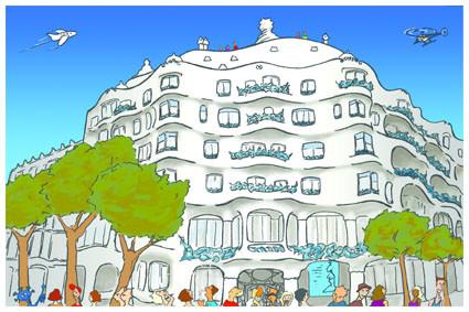 Postal La Pedrera. Gaudí. Barcelona. Para Lavistalegre postales.Set de 16 (selección)
