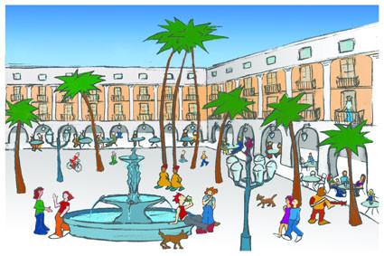 Postal Plaza Real. Barcelona. Para Lavistalegre postales.Set de 16 (selección)