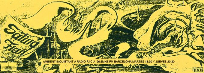 Flyer Sativa Flan. Programa de radio. Radio P.I.C.A. F.M Barcelona