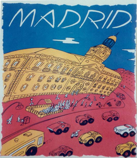 Ciudades de España. Serigráfia en t-shirt para Onalco Impresiones. Barcelona