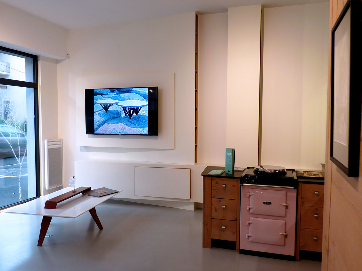 Meuble TV (Design Ateliers Malegol - Mathieu Le Guern) AGA City 60