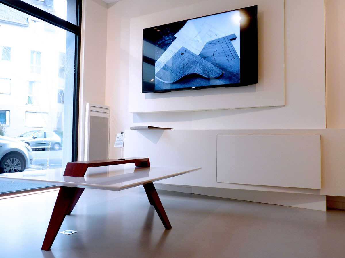 Meuble TV et Table basse GWAREG (Design Ateliers Malegol - Mathieu Le Guern)