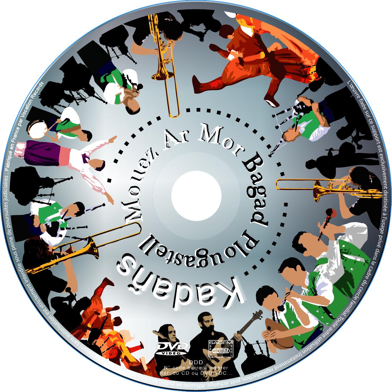 Galette du DVD du Spectacle KADAÑS du Bagad Plougastell