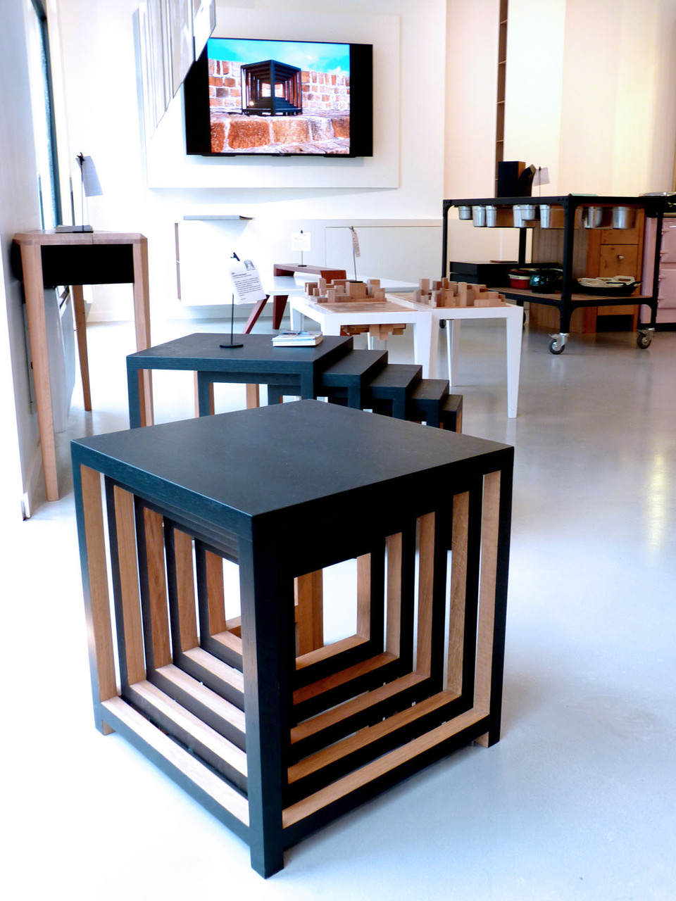 Table Gigogne DIRI (Design Ateliers Malegol - Mathieu Le Guern)
