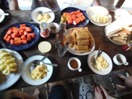 ...und ein super Frühstück!