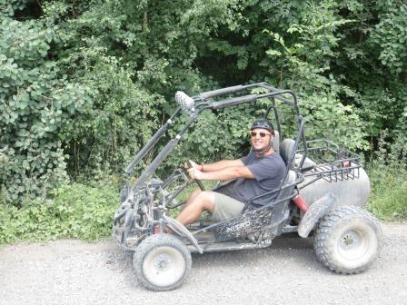 Beim Buggy-Fahren