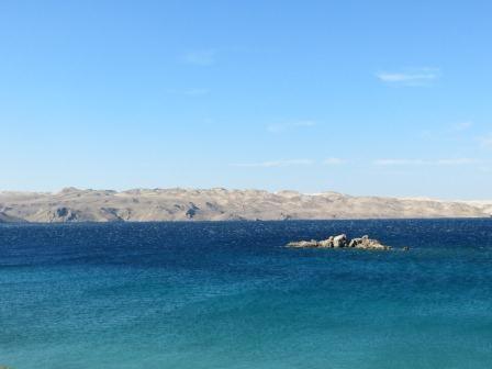 Ausblick auf die vorgelagerten kargen Inseln