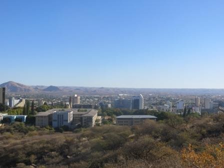 Blick auf Windhoek von oben