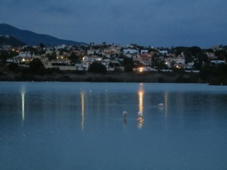 Abendstimmung am Flamingo-See in Calpe