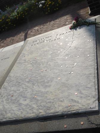 Grab von Benjamin Franklin