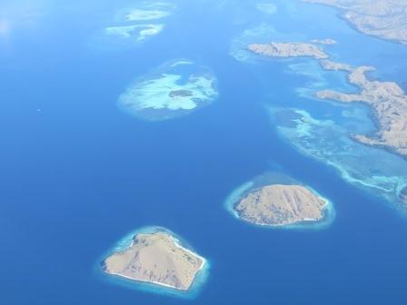 Indonesische Inseln von Oben