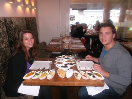 Rijsttafel im Restaurant Blauw