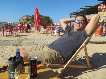 Strandbar des Yachtclubs in Ferragudo
