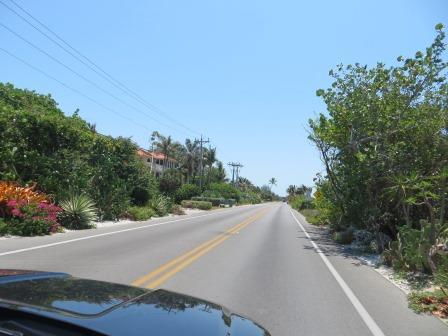Die einzige Straße auf Sanibel und Captiva Island