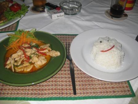 Ein letztes Mal Thai-Food
