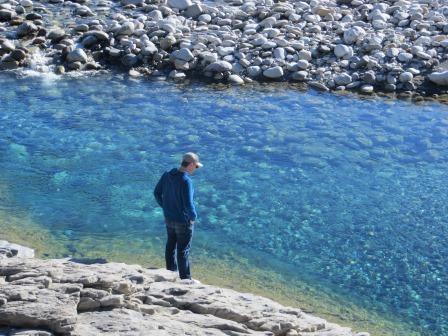 glasklares Wasser am Rio Esera