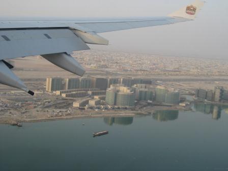 Anflug auf Abu Dhabi