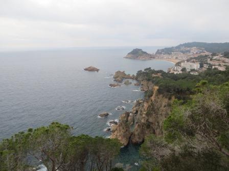 Küstenstraße an der Costa Brava
