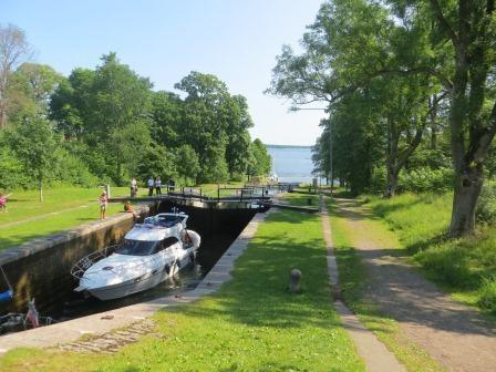 Schleusenanlage am Götakanal