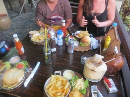Burger-Party am Abend