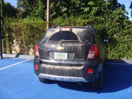 Unser schmutziger Chevy auf dem Basketballfeld :)