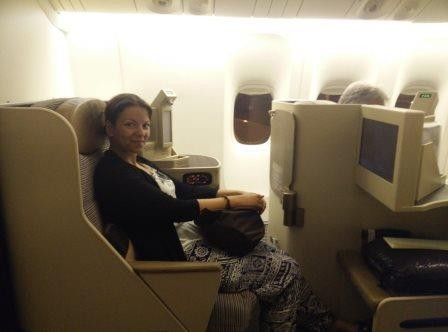 Luxusflug Business Class der Etihad