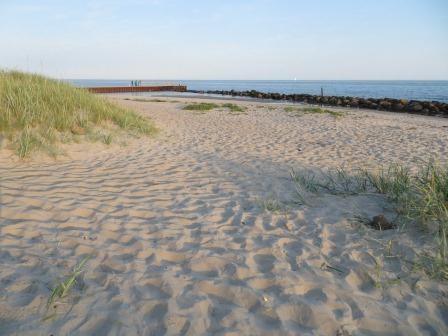 Feiner Sand, nur zum Baden zu frisch