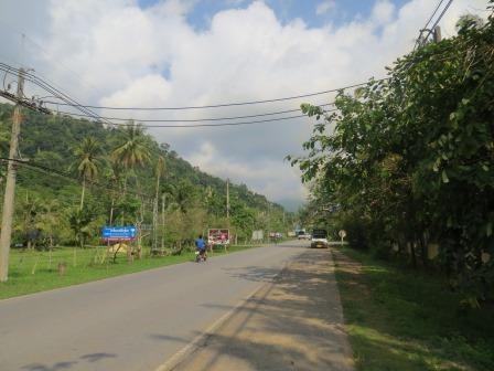 Einzige Straße auf Koh Chang
