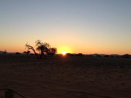 Sonnenaufgang im NamibRand Nature Reserve