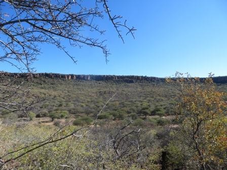 letzter Blick auf das Waterberg Plateau
