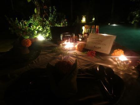 Abendessen im Alam Anda