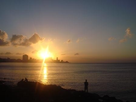 Sonnenuntergang am Malecon