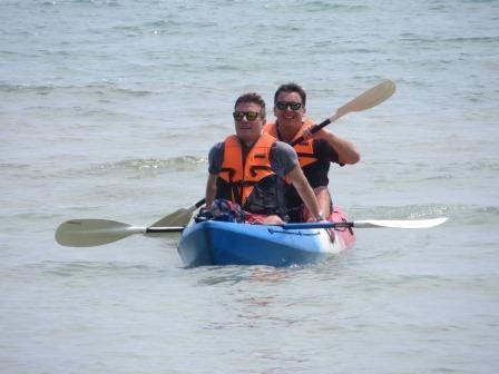 Kajak-Tour im Meer