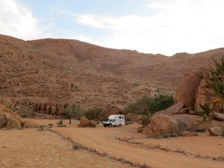 Unser Campsite mitten in den Tirasbergen