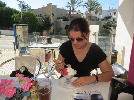 Pause im Eiscafé