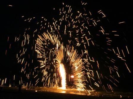 Feuershow am White Sand Beach