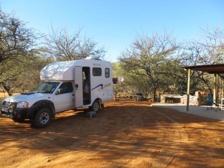 Auf dem Waterberg Plateau Campsite