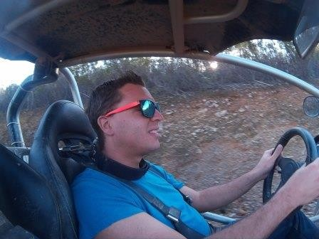 Buggy-Tour bei Silves - Jan in seinem Element :)