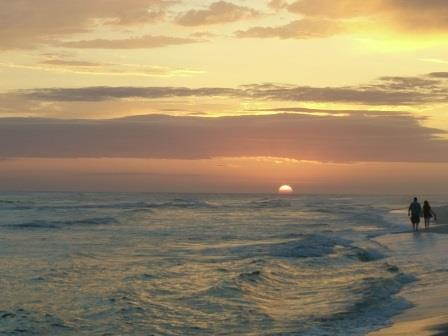 Perfekter Sonnenuntergang in Panama City