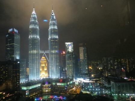 Ausblick aus der Skybar im Traders