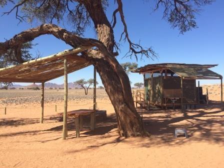 Unser Campsite im NamibRand Nature Reserve