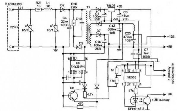 Электронная схема evo-ii