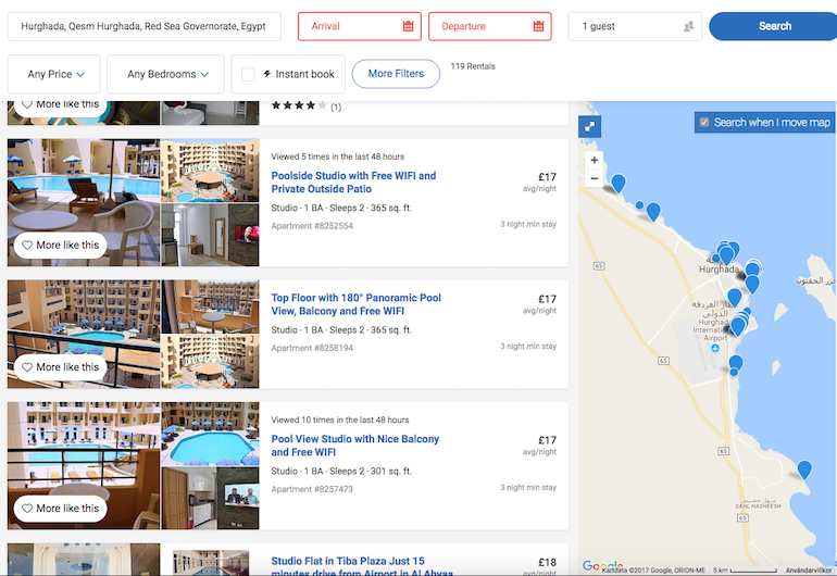 www.apartmentsinhurghada.com - Rental Apartments Hurghada - Instant Booking Enabled